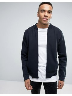 Hollister Neoprene Sweat Bomber Regular Fit In Black - Black