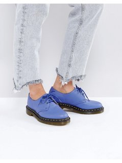 Dr Martens 1461 leather Lace Up Flat Shoe - Blue