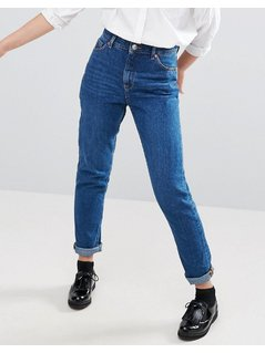Monki Kimomo Mom Jeans - Blue