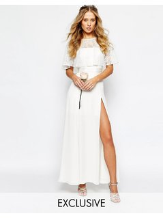 Fame and Partners Bridal Lace Maxi Dress - White