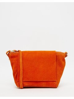 Normal asos festival suede cross body bag orange