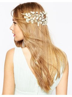 ASOS WEDDING Mini Flower Back Hair Garland - Cream