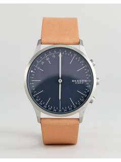 Skagen Connected SKT1200 Jorn Leather Hybrid Smart Watch In Tan - Tan