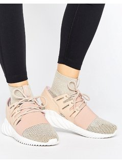 adidas Originals Pink Tubular Doom Trainers - Pink