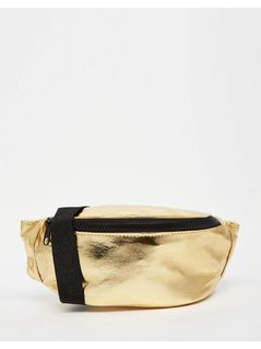 ASOS LIFESTYLE Metallic Bum Bag - Gold