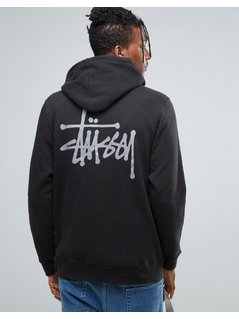 Stussy Hoodie With Back Print - Black