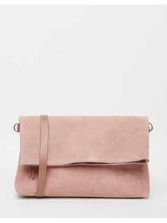 Normal jack wills northcote suede cross body bag pink
