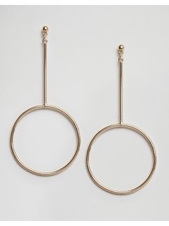 ASOS Open Circle Drop Earrings - Gold