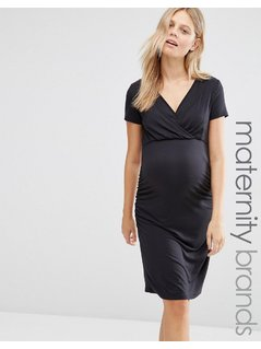 Mamalicious Maternity Anette Nursing Dress - Black