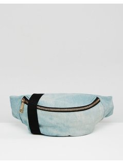 ASOS Tie Dye Denim Bum Bag - Blue