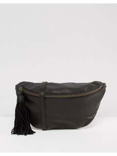 ASOS Leather Classic Bum Bag - Black