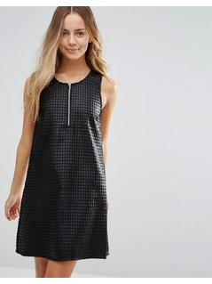 Vero Moda Lil Zip Front Dress - Black