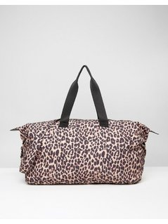 ASOS LIFESTYLE Slouchy Leopard Holdall - Multi