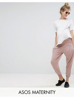 ASOS Maternity Harem Pants In Jersey - Pink