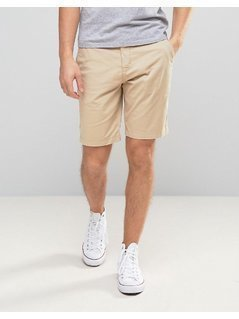 Lyle&Scott Chino Shorts Regular Fit Tonal Eagle Logo in Stone - Beige