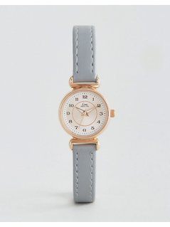 Limit Grey Leather Watch - Grey