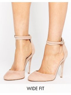 ASOS PLAYDATE Wide Fit High Heels - Beige