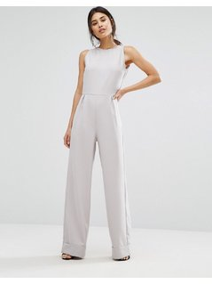 Alter Turn Up Wide Leg Jumpsuit - Grey