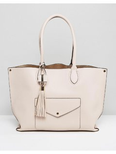 Dune Dockie Tote Bag With Front Pocket - Gold