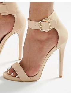 Truffle 2 Part Heeled Sandals - Beige