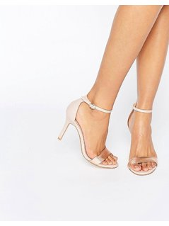 Dune Hydro Two Part Blush Heeled Sandals - Pink