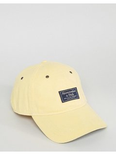 Abercrombie&Fitch Twill Cap Patch Logo in Yellow - Beige