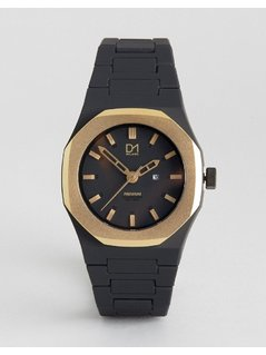 D1 Milano Premium Collection Black and Gold Watch - Black