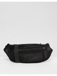 ASOS LIFESTYLE Mesh Bum Bag - Black