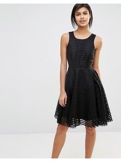 Vero Moda Lace Skater Dress - Black