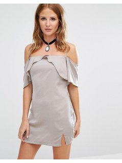 Millie Mackintosh Cold Shoulder Slip Dress - Silver