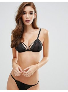 Fifty Shades Darker by Coco de Mer Steele Triangle Bra - Black