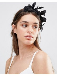 Johnny Loves Rosie Aniya Floral Hair Garland - Black