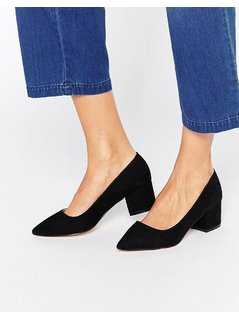 Carvela Knock Point Mid Heeled Shoes - Black