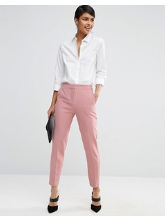 ASOS Premium Clean Tailored Trousers - Pink