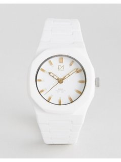 D1 Milano Gold Collection White Watch - White