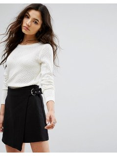 Vila Open Knit Jumper - White