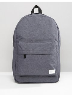 Spiral Backpack Crosshatch in Grey - Grey