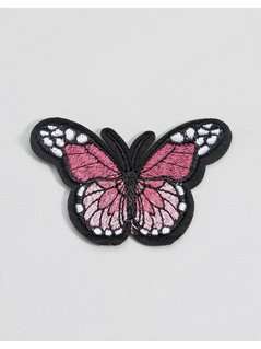 DesignB London Embroidered Iron On Butterfly Patch - Multi