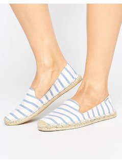 Soludos Striped Slipper Espadrille - Pink