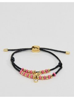 Juicy Couture Multi Strand Beaded Cord Bracelet - Black