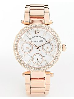 Michael Kors Parker Rose Gold Chronograph Watch MK5616 - Gold