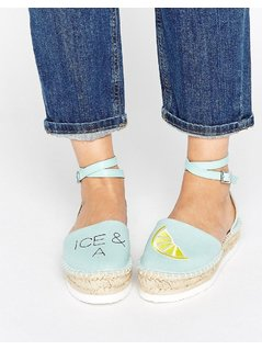 ASOS JUICY SLICE Ice and A Slice Espadrilles - Blue