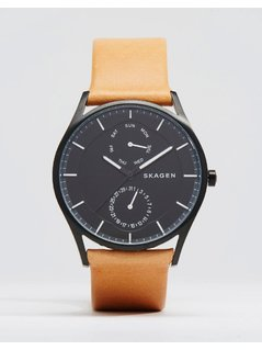 Skagen Holst Quartz Leather Watch In Tan 40mm - Tan