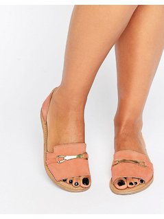 ASOS JASMINA Suede Summer Shoes - Orange