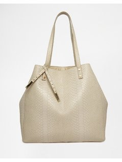 Normal asos croc shopper bag grey