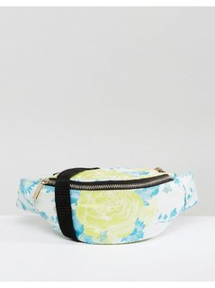 ASOS Fluro Jacquard Bum Bag - Yellow