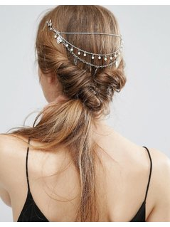 ASOS Occasion Faux Pearl Back&Front Hair Clip - Silver