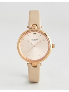 Kate Spade New York Rose Gold Holland Leather Watch - Gold