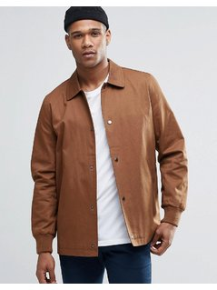 ASOS Cotton Coach Jacket in Tan - Tan