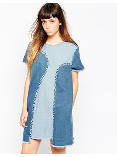House Of Holland A-Line Denim Dress - Blue